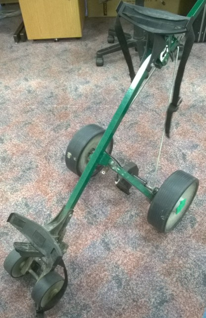 FixItWorkshop, Worthing, Aug'17 Hillbilly Compact Golf Trolley