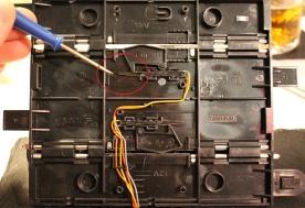 FixItWorkshop, Dec'17, Scalextric Lap Counter C8215, gap closed.