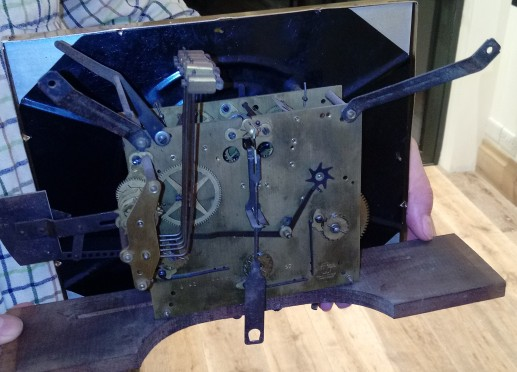 FixItWorkshop, Jan'18, Vedette Wall Clock, mechanism.
