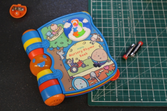 FixItWorkshop, Worthing, July'19, VTECH Singing Nursery Rhyme Book.