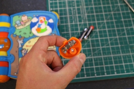 FixItWorkshop, Worthing, July'19, VTECH Singing Nursery Rhyme Book, cleaned contacts.